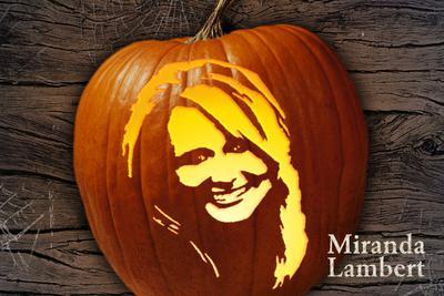 Miranda Lambert Pumpkin Template GAC - CountryMusicRocks.net