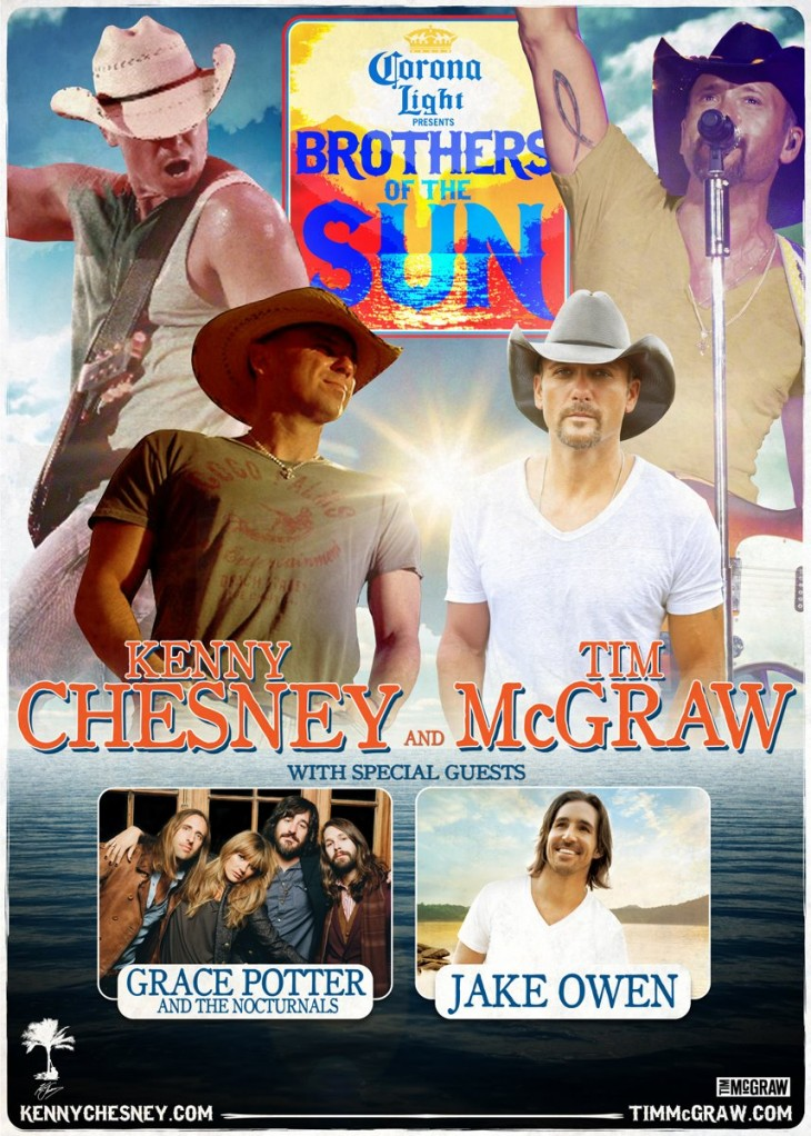Kenny Chesney Tim McGraw Brothers of the Sun Tour Art - CountryMusicRocks.net