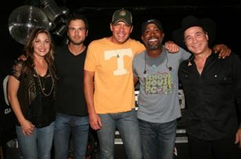 L to R: Sunny Sweeney, Chuck Wicks, Rodney Atkins, Darius Rucker, and Clint Black.Photo Credit: Randi Radcliff