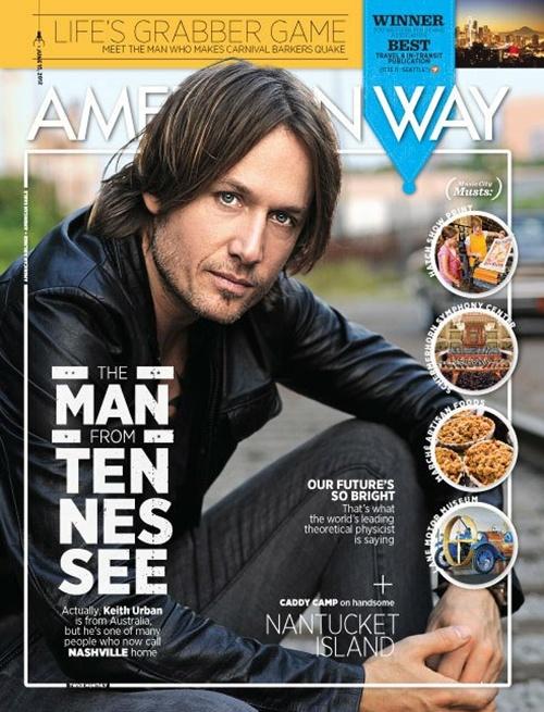 Keith Urban American Airlines Magazine - CountryMusicRocks.net