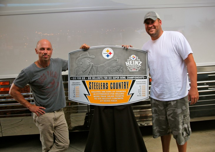 Kenny Chesney Pittsburgh Steelers Plaque - CountryMusicRocks.net