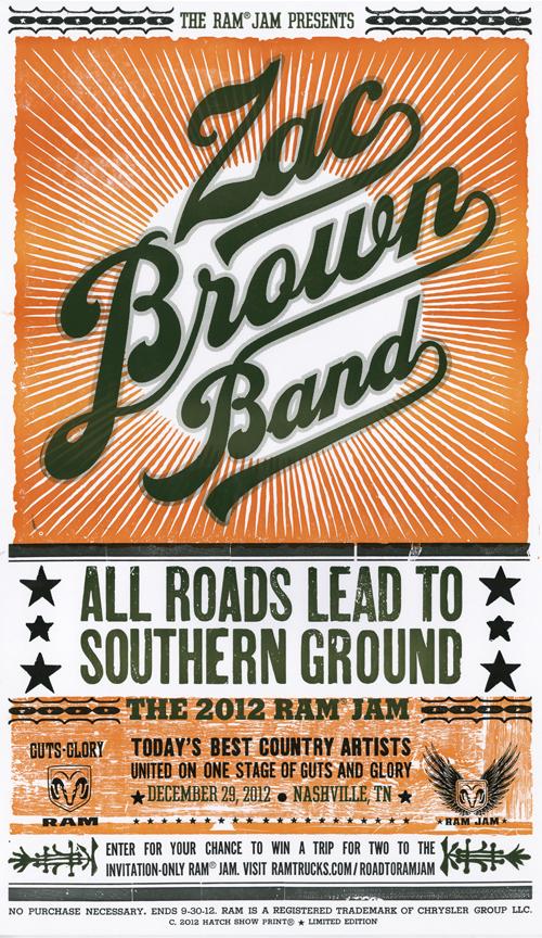 Zac Brown Band Ram Jam Hatch Print - CountryMusicRocks.net