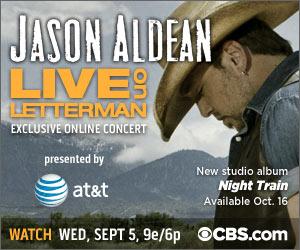Jason Aldean Live On Letterman - CountryMusicRocks.net
