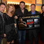 Pictured L to R: Rob Beckham/ WME, Marion Kraft/ShopKeeper, Chris Young, Gary Overton/Sony Music Nashville, Sally Williams/Ryman Auditorium Photo Credit: Rick Diamond/Getty Images