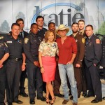 Kenny Chesney with Katie Couric and members of the Boston PD, Boston FD, Boston EMS