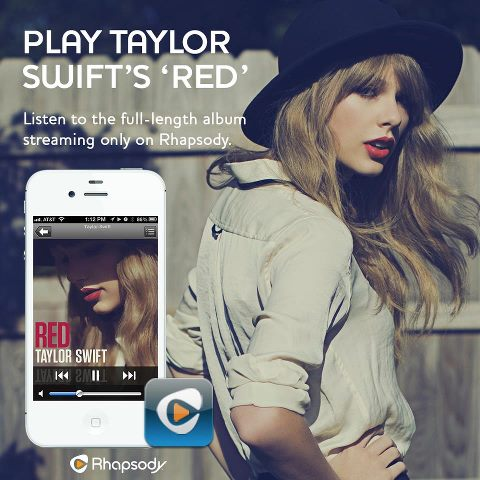 Taylor Swift Rhapsody Subscription Music Service Listen All