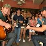 Jerrod Niemann and Lance Miller write a song with the campers at ACM Lifting Lives Music Camp 2013. Photo Credit: Getty Images/Courtesy of ACM Lifting Lives