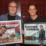 Appearing in Photo L-R: Mike Dungan, Easton Corbin Photo taken by Jessica Wardwell