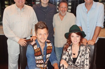 Front Row Native Run (Bryan Dawley and Rachel Beauregard)  Back Row: Show Dog – Universal Music President Mark Wright, Producer Luke Laird, Show Dog – Universal Music GM George Nunes, Show Dog -Universal Music Senior Director A&R Cliff Audretch, III