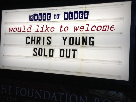 Chris Young House of Blues - CountryMusicRocks.net