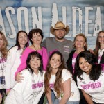Aldean with survivors and volunteers from Susan G. Komen New Orleans Photo Credit Erika Goldring, Getty Images