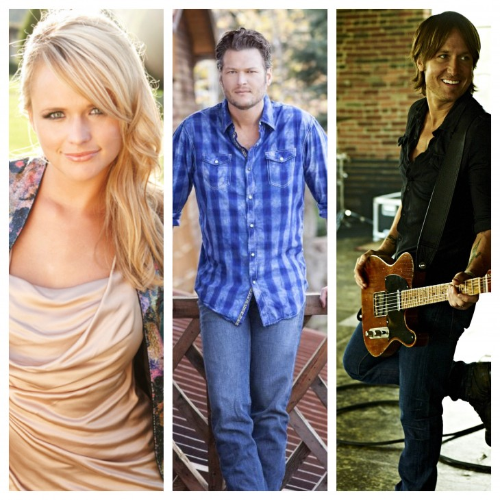 Miranda Lambert Blake Shelton Keith Urban - CountryMusicRocks.net