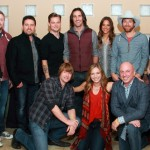 Back Row - (L-R) Dennis Kurtz, Paul Overstreet, Josh Osborne, Ilya Toshinsky. Frankie Ballard, Jake Owen, Jana Kramer, Scotty Emerick, Chris Blair and Jason Sturgeon.  Front Row - (L-R) Ben Bradford, Olivia Lane and Jay Mackin.