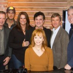 Pictured (L-R): Jim Weatherson (Nash Icon Music GM), Chuck Wicks (America's Morning Show host), Terri Clark (America's Morning Show host), Reba, Scott Borchetta (BMLG President & CEO), John Dickey (Executive Vice President of Content and Programming for Cumulus) and Blair Garner (America's Morning Show Host) Photo Credit: Eric Heany, Cumulus