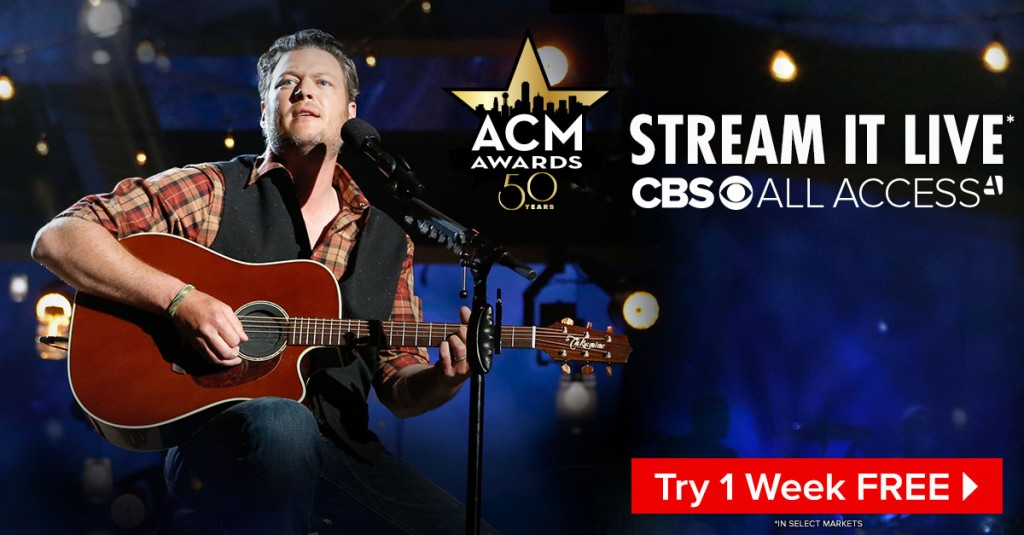 Blake Shelton ACM Awards Stream - CountryMusicRocks.net