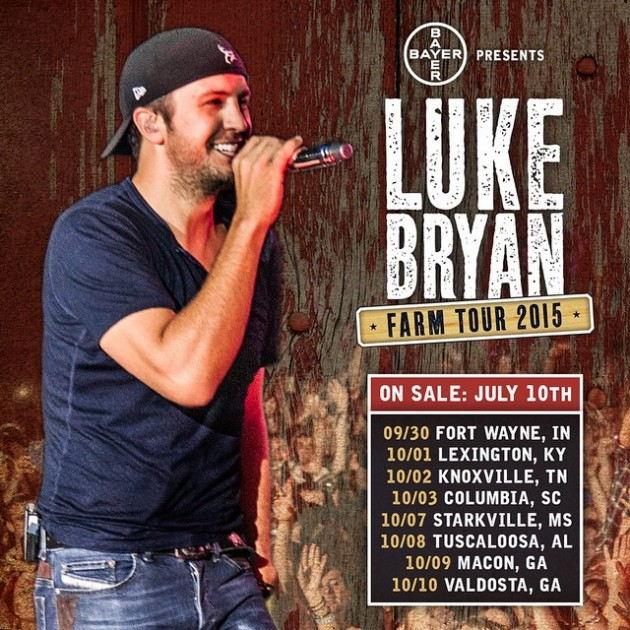 Luke Bryan Farm Tour 2015 - CountryMusicRocks.net