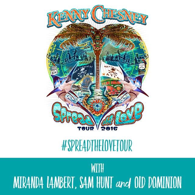 Kenny Chesney 2016 Spread The Love Tour - CountryMusicRocks.net