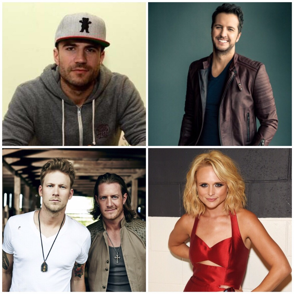 Sam Hunt Luke Bryan FGL Miranda Lambert - CountryMusicRocks.net